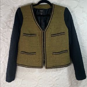 MNG jacket size Med with gold chain trim.